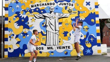 """""""Bielsa redentor"""": El increíble mural dedicado al técnico de Leeds United en Inglaterra"""