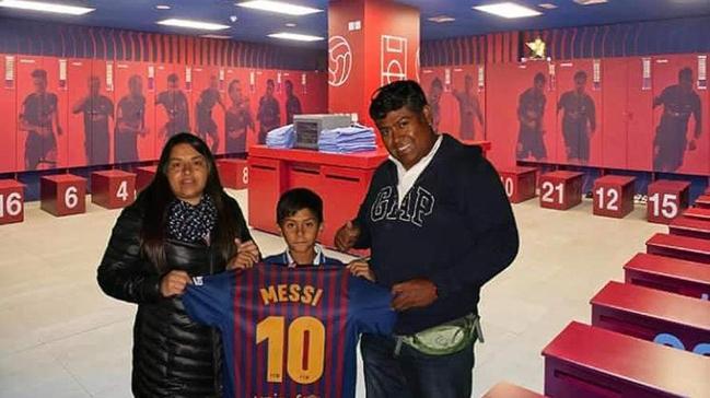 Joven iquiqueño de 10 años fue reclutado por FC Barcelona