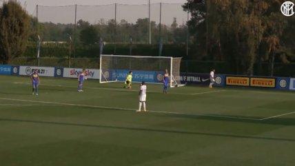 El oportuno gol de Alexis Sánchez en la goleada de Inter de Milán sobre Carrarese