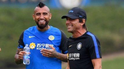 Vidal volvió a estar a las órdenes de Conte y se reencontró con Alexis en la práctica de Inter