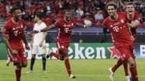 Bayern necesitó del alargue para remontar ante Sevilla y ganó el título de la Supercopa de Europa