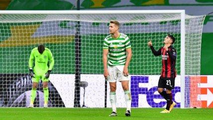 Celtic sufrió en su casa el gran momento de AC Milan