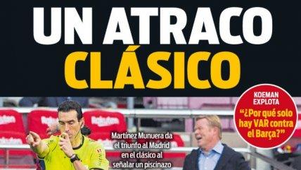 Prensa de Barcelona explotó contra el VAR en sus portadas tras la victoria de Real Madrid