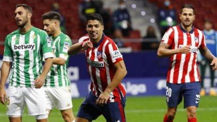 Atlético de Madrid se impuso a Betis de Pellegrini y Bravo con goles de Llorente y Suárez
