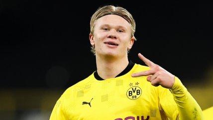 Erling Haaland agigantó su registro goleador en victoria de Borussia Dortmund sobre Club Brujas