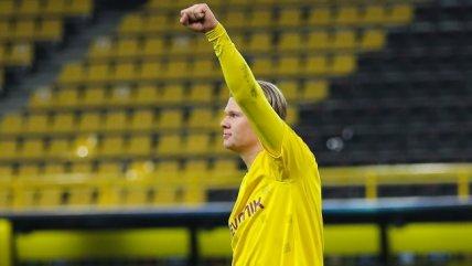 Erling Haaland se convirtió en el más joven que supera los 15 goles en Champions League