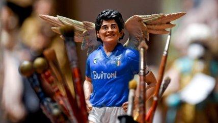 Diego Maradona se convirtió en un santo para los pesebres de Nápoles