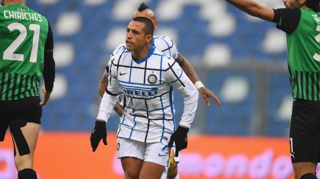 Alexis Sánchez tras su gol a Sassuolo: Cuanto más tiempo juego, mejor me siento
