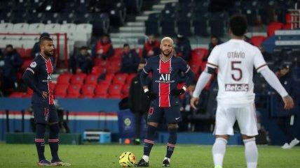París Saint-Germain volvió a tropezar con empate ante Girondins en la liga francesa