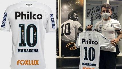 """La """"10"""" de Pelé en honor a Diego: La camiseta especial de Soteldo para homenajear a Maradona"""
