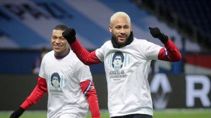Neymar, Mbappe y las estrellas de PSG también homenajearon a Diego Maradona