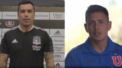 Esteban Paredes y Matías Rodríguez enviaron mensaje a los hinchas antes del Superclásico