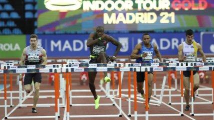 Holloway superó los obstáculos en Madrid y rompió el récord de 60 metros vallas después de 27 años