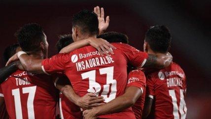 """""""Chaco"""" Insaurralde tuvo un rol protagónico en el tanto del triunfo de Independiente ante Gimnasia"""