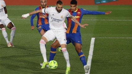 Karim Benzema se lució con un golazo de taco en el triunfo de Real Madrid sobre FC Barcelona