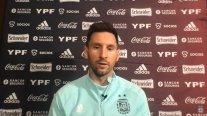 Messi anticipó el debut de Argentina contra Chile: Sabemos que será muy difícil, nos conocemos muchísimo