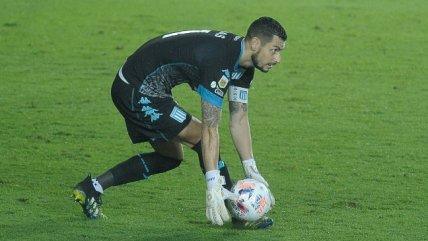 Gabriel Arias fue figura en Racing al atajar un penal ante Aldosivi