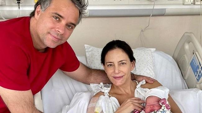 Luciana Aymar compartió el nacimiento de su segundo hijo con Fernando González