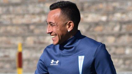 Fabián Orellana se robó las miradas en San Carlos y vivió su primer entrenamiento en la UC