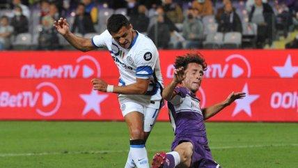 Afinando la puntería: La clara ocasión de gol que tuvo Alexis Sánchez ante Fiorentina