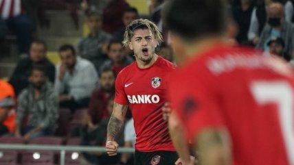 Angelo Sagal anotó un gol en derrota de Gaziantep en la Superliga de Turquía